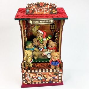 Musical Wooden Animated Stage Show Wind Up